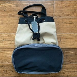 Ocean Stream Bags - Beige and Black Convertible Carry All Backpack Bag